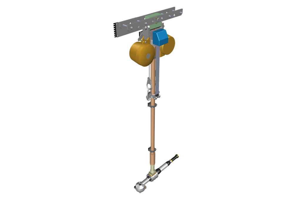 Teleskopierbare Aufhängung mit zwei Balancer