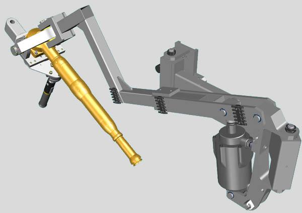 Articulated Arm. Drei-Arm. Twister