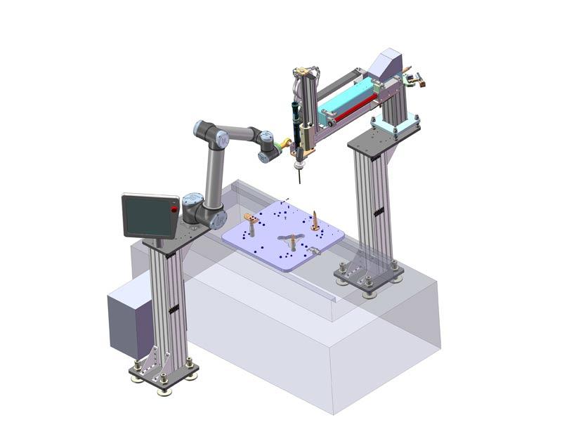 Schraubapplikation mit einem Manipulator und Roboterarm